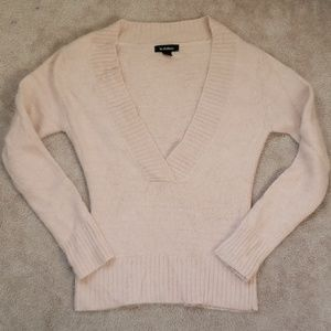Le Chateau Angora Deep V Sweater